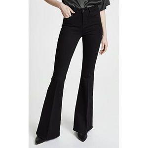 L'Agence Solana Big Flare Tuxedo Jeans Noir Sz 24